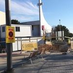 Continuen les obres d'urbanització al carrer de Pedraforca