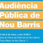 Audiència Pública del Districte de Nou Barris