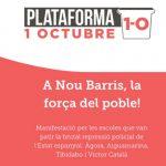 Òmnium Nou Barris recorda les escoles de l'1 d'Octubre