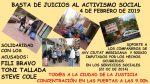 Les entitats donen suport als activistes acusats de desordres públics i danys a Serveis Socials al 2014